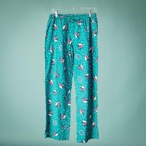 Life Is Good M Flannel Snowman PJ Pants